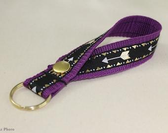 Leash Style Keychain - Purple Arrow