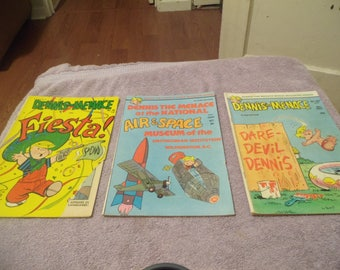 3 Vintage Dennis The Menace Comic Books/ 1968/1976/1977