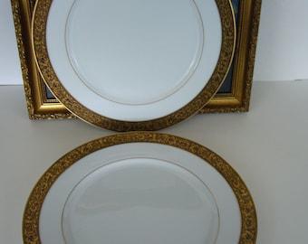 SANGO China Dinner Plates - Set of 2 Sango H&ton 3758 Plates - Discontinued H&ton by Sango & Sango dinner plates | Etsy