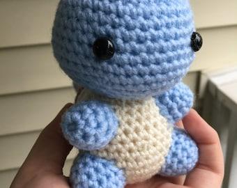 Crochet Squirtle, Amigurumi Squirtle, Crochet Pokemon, Amigurumi Pokemon, Squirtle Plush, Stuffed Squirtle, Pokemon Plush, Squirtle