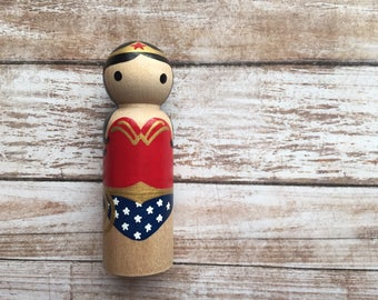 Wonder Woman Peg People PegBuddies Doll