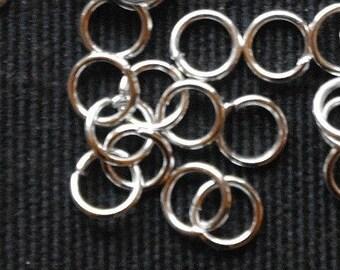 Silver rings, 4 mm split rings, jump rings jewelry findings