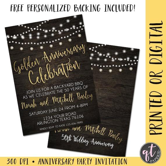 Golden anniversary invitation 50th anniversary invitation stopboris Image collections