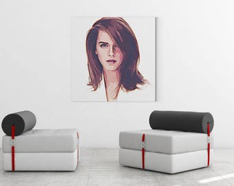 Art Print | Emma Watson | Art-by-Artist Jochen Schlaghecke | Watercolour Painting | Wall art | Lambda Chrystal DPII