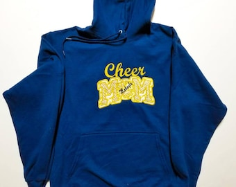 Custom Embroidered Cheer Mom Hoodie - Cheerleader Mom - Cheer Mom Gifts - Cheer Mom - Personalized Hoodie - Cheer Hoodie - Mom Hoodie