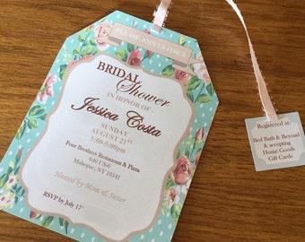 Vintage Tea Bag Invite