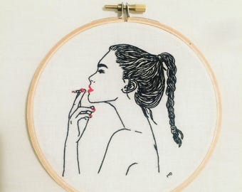 Hyper heart Embroidery