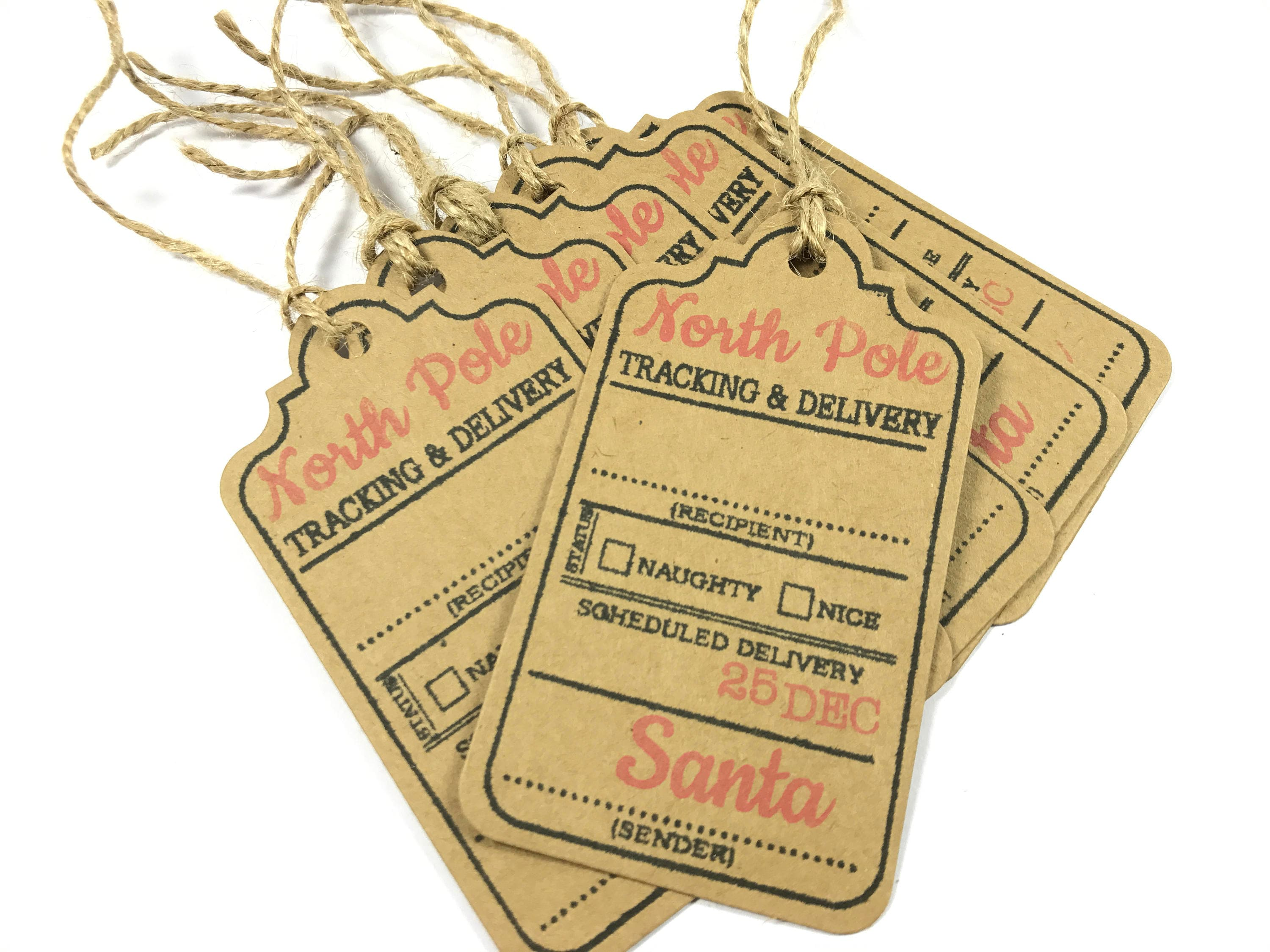 Nice Tag: Naughty Or Nice Christmas Tags North Pole Special Delivery