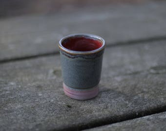 Red and Blue Tea Cup