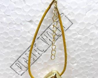 Gold Bracelet, Gold Bead Bracelet, Leather Bracelet, Contemporary Bracelet, Jewellery, Accessory, Gold Nugget Bracelet, Birthday Gift