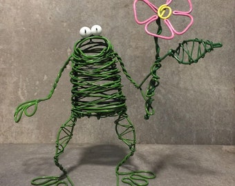 Fun Frog with Flower