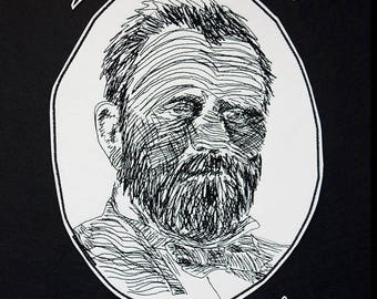 I'm Gonna Get Drunk Like Ulysses S. Grant Back Patch / Embroidered / Iron on / Jacket Badge / Drinking / Drunk / 18th President / Patch Only