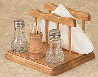 Toothpick Salt and Pepper Napkin Holder