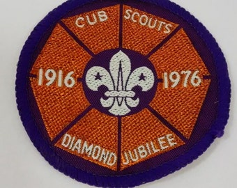 Diamond Jubilee Patch, Britain, England, UK, Cub Boy Scout, Badge 1916 1976