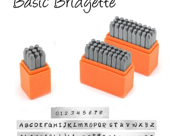 ImpressArt Basic Bridgette Uppercase or Lowercase or Numbers 3mm  | Metal Stamping Font |  Hand Stamping Letter Set |  ImpressArt