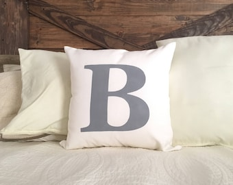 Initial Pillow | Rustic initial Pillow Cover | Farmhouse Pillow | Pillow Cover | Made To Order