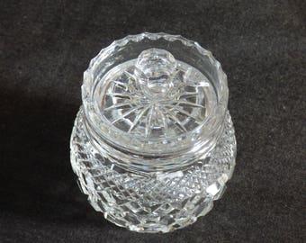 Cut glass crystal preserve pot