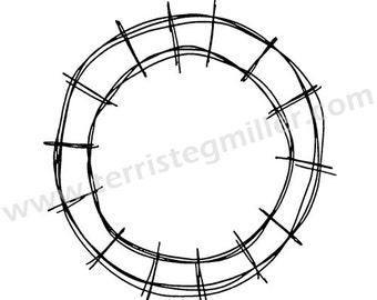 Thermofax Screen - Circle Motif 3