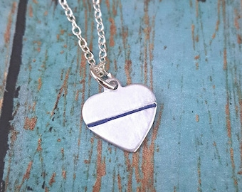 Police Wife Necklace - Police Wife - Thin Blue Line - Police - Blue Lives Jewelry - Police Jewelry - Gift for Her- Cop Wife - Police