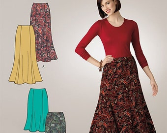 OOP Misses Skirt in Two Lengths Simplicity 2312 Sew Simple Pattern Regular and Plus Size 8-18 UNCUT