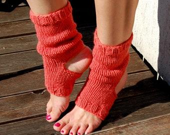 Yoga Socks,  Dance Socks, Toe-less Socks,  Knitted Spats,  Flip Flop Socks, Piyo Socks, Yoga Wear,  Pedicure socks, Knitted, Hand Knit