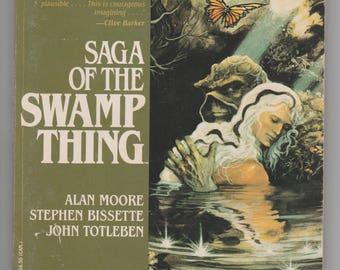 RARE Saga of the Swamp Thing Trade Paperback #1 Alan Moore Stephen Bissette John Totleben DC Comics Warner Edition