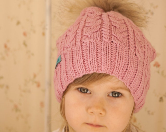 KNITTING PATTERN cable hat Bella (toddler/child/adult size)