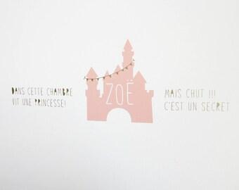 """Princess Castle"" stickers"