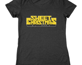Sweet Christmas Funny Xmas Luke Cage Comic Power Man Netflix Defenders Women's Relaxed Fit Tri-Blend T-Shirt DT1643