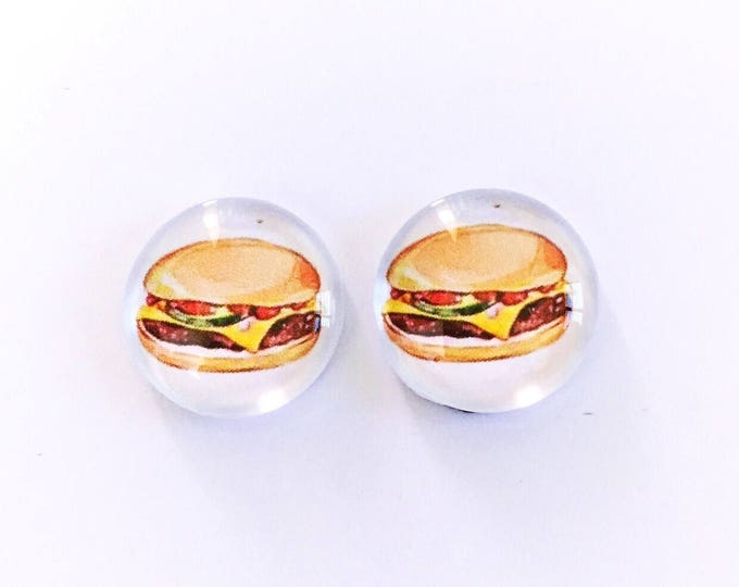 The 'Cheeseburger' Glass Earring Studs