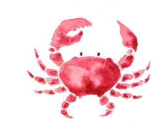 Watercolor Crabs (9x12 in.)