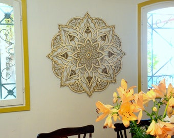 Wonderful Mandala Decor, Living Room Wall Hanging, Moroccan Decor, Bohemian Wall Decor,  Wood