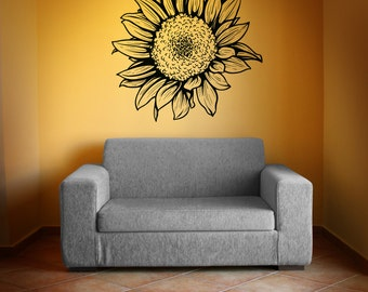 Vinyl Wall Decal Sticker Sunflower 1069m
