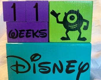 Disney Countdown Block Set - Monsters Inc Edition