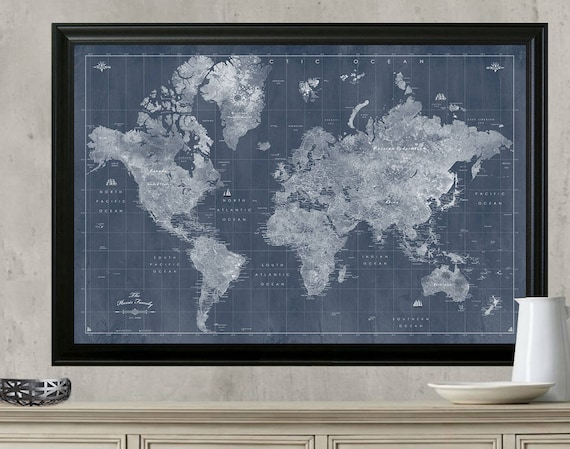 Push pin world travel map push pin travel map 24x36 framed te gusta este artculo gumiabroncs Image collections