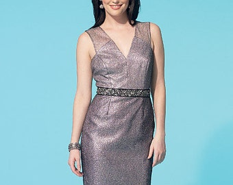 McCall's Sewing Pattern M7282 Misses' V-Neck Dress