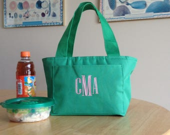 Monogrammed Insulated Lunch Tote- Insulated Can Cooler- Insulated Lunch Bag