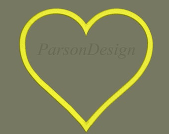 Heart Embroidery Design - 15 Size Embroidery Designs Heart Embroidery Design ~ INSTANT DOWNLOAD ~ Machine Embroidery Pattern