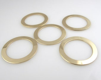 5PK GOLD FiLLED WASHERS 22 Gauge, 1""