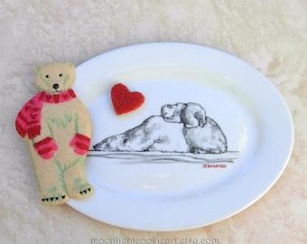 Polar Bear Mothers Day Gift Jewelry Dish Baby Shower Gift Polar Bear Plate Birthday Gift Baby Animal Art Nursery Art Polar Bear Art