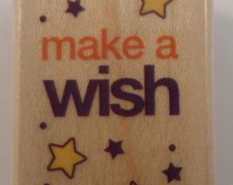 Make A Wish On A Star Rubber Stampede Wooden Rubber Stamp #4489B