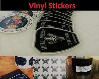 100 Custom Cut Vinyl Stickers
