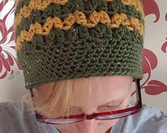 Teen/Adult,Crochet Messy bun hat, Pony tail hat