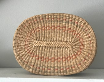 Vintage Basket with Lid, Boho Basket, Boho Basket with Lid
