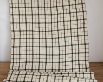 Vintage Checked Pattern Faded Yukata Fabric  (1 meter)