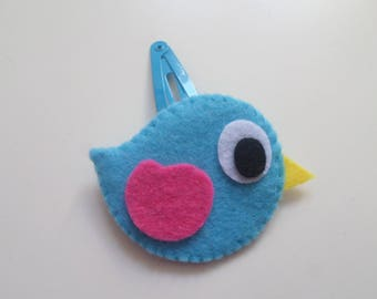 "Felt hair clip ""Zachary"" Bird Collection"