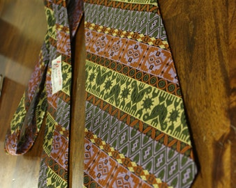 Gentry Beau Brummell unique vintage wide tie, 70's cool tie with optional cuff links