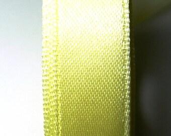 5 Metters yellow 9 mm satin ribbon clear 6B