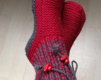 Pattern PDF adult wool slippers seamless sole