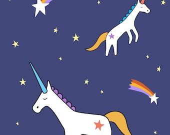Unicorn Print, Fine Art Print by Kate Durkin, Nursery Alphabet Art